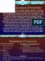 History to invention of Ammonia