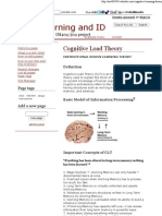 Cognitive Load Theory - Learning and ID