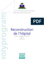 Plan de Reconstruction de l'Hopital General
