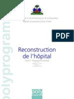 Plan de Reconstruction de l'Hopital General