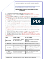EXERCÍCIO DE MATERIAS DE CONSTRUÇÃO CIVIL II