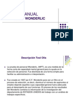 Manual Wonderlic