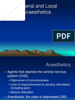 General and Local Anaesthetic Agents
