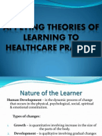 Applying Theories of Learning to Healthcare Practice