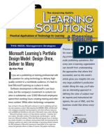 Microsoft Learning's Portfolio Design Model - Design Once, Deliver to Many