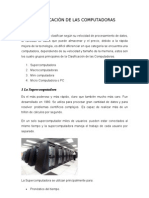CLASIFICACIÒN DE LAS COMPUTADORAS