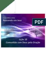 Licao10 ComunhaoComDeusPelaOracao Slides