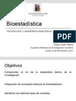 Clase bioestadística I