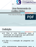 Flex – Uma ferramenta de Análise léxica