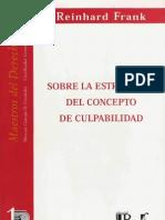 La Estructura Del Concepto de Culpabilidad - Frank Reinhard