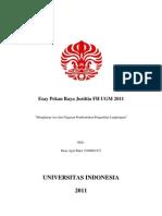 Mengharap Asa Dari Gagasan Pembentukan Pengadilan Lingkungan
