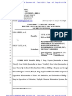 LIBERI v TAITZ (C.D. CA) -- 440.0 - OPPOSITION to MOTION to Dismiss Case - gov.uscourts.cacd.497989.440.0