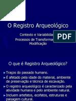 Registro Arqueológico