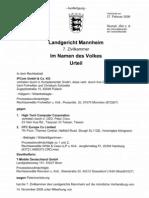 2009-02-27 Original German IPCom v HTC Ruling (LG Mannheim)