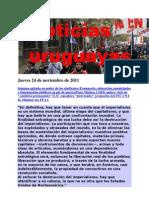 Noticias Uruguayas Jueves 24 de Noviembre de 2011