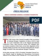 ANOCA Convenes General Assembly Maputo