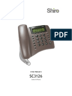 TEL SC3126 User Guide English