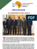 IOC President Tours Africa