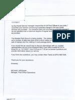 USPS Discontinuance Study Notice (November 17, 2011)
