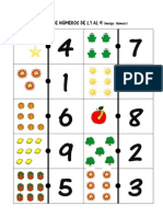 Dominó números 1-9 imatge-número