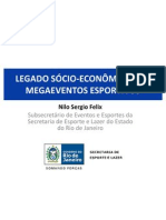Apresentação - Legado sócio-econômico dos megaeventos - Nilo Felix