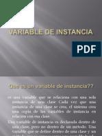 Variable de Instancia
