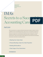 IMA Secrets to a Successful Accounting Career