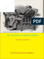 The Adventures of Sherlock Holmes by Doyle - 2 Page Format