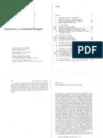 Benveniste - De La Subjetividad en El Lenguaje en El Hombre en La Lengua. Cap. XV