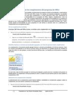 Habilitar o Deshabilitar Los Complementos Del Programa de Office