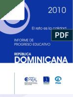 Informe de Progreso Educativo 2010- Republica a