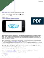 Como usar Skype por 3G no iPhone » Blog do Thomy