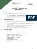 Lab. 7. Determinación de las Constante de Tiempo de Circuitos RC