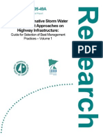 Minnesota; Impact of Alternative Storm Water Management Approaches on Highway Infrastructure, Volume 1 - University of Minnesota