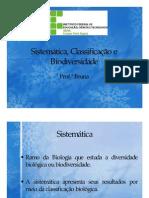 Sistemtica Classificaao e Biodiversidade
