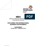 MBA EIBE Assignment International Centres 2011-2012-Final - Copy