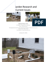 New Jersey; Rain Garden Research and Current Issues