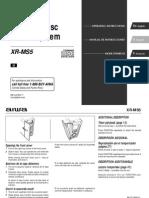 Aiwa XR-MS5 Verticle CD Executive Micro System Manual