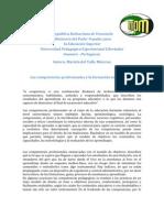 Las competencias profesionales y la formación universitaria