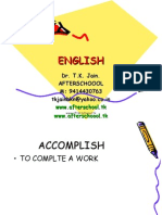 6 June English