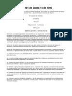 Ley 181 de 1995, Ley Del Deporte