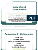7 August Reasoning and Quantitative Aptitude