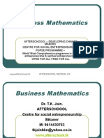 12 August Business Mathematics