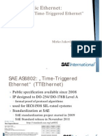 Deterministic Ethernet - SAE AS6802  (TTEthernet)