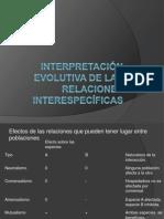 Interpretación evolutiva de las relaciones interespecíficas (1)