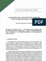 El maltrato animal en el Derecho Penal italiano.