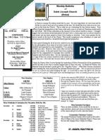 St. Joseph's November 27, 2011 Bulletin