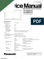 Panasonic TH-42PX77U TH-42PE77U PDP Plasma