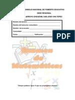 Examen Matematicas 1º Y 2º