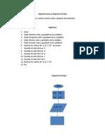 Algoritmo Puro y Diagrama de Flujo